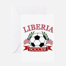 Liberia Football Greeting Card