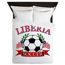 Liberia Football Queen Duvet