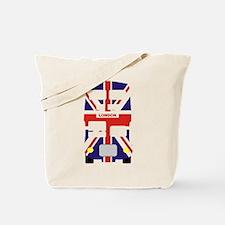 Union Jack London Bus Tote Bag