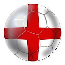 English Football Round Car Magnet