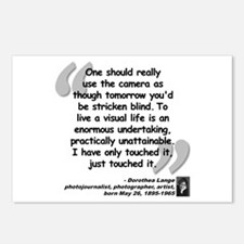 Lange Camera Quote Postcards (Package of 8)