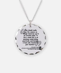 Lange Camera Quote Necklace Circle Charm