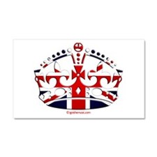 Royal British Crown Car Magnet 20 x 12