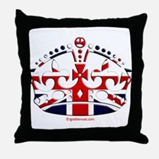 Royal British Crown Throw Pillow