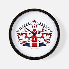 Royal British Crown Wall Clock