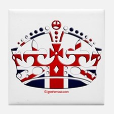 Royal British Crown Tile Coaster