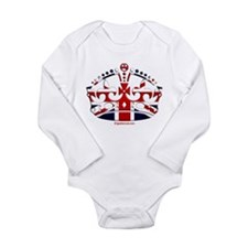 Royal British Crown Long Sleeve Infant Bodysuit