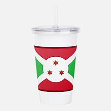 Burundi Flag Acrylic Double-wall Tumbler