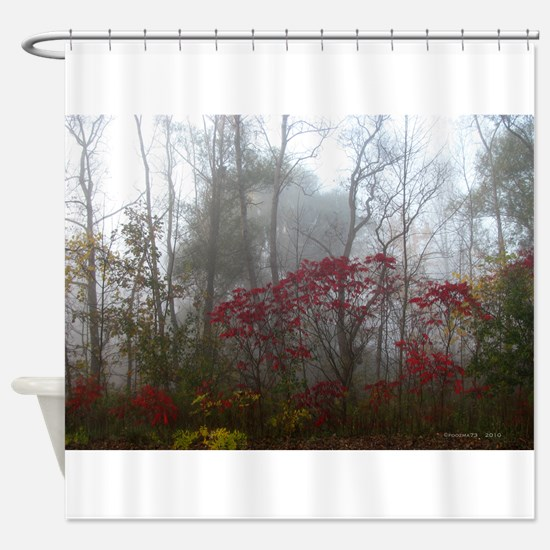 .foggy sumac. II Shower Curtain