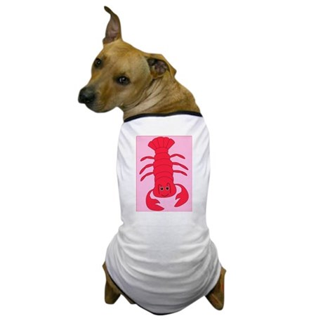 """""""Lobster"""" White Dog T-Shirt"""