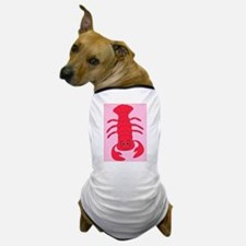 """Lobster"" White Dog T-Shirt"