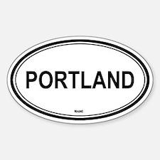 Portland (Maine) Oval Decal