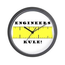 Engineers Rule Wall Clock
