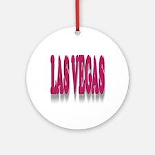 Las Vegas 3D Ornament (Round)