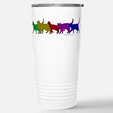 Rainbow cats Large Mugs