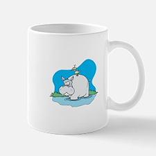 Cute Wading Hippo and Ducky Mug
