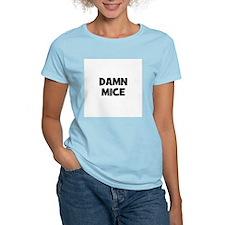 Damn Mice Women's Pink T-Shirt