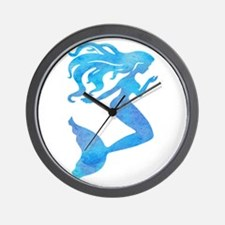 Watercolor Mermaid Wall Clock