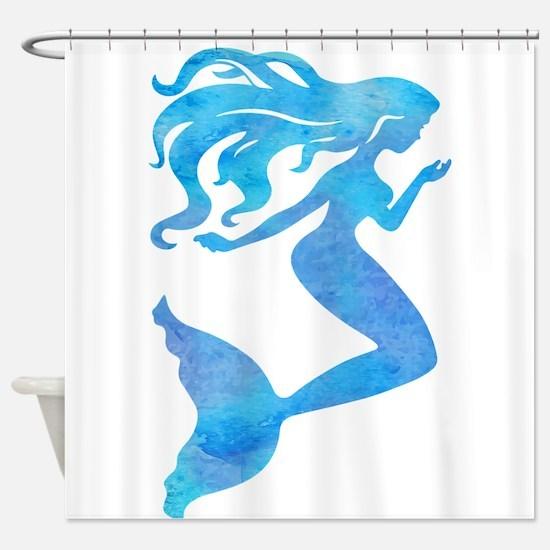 Watercolor Mermaid Shower Curtain