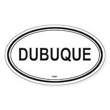Dubuque (Iowa) Oval Decal