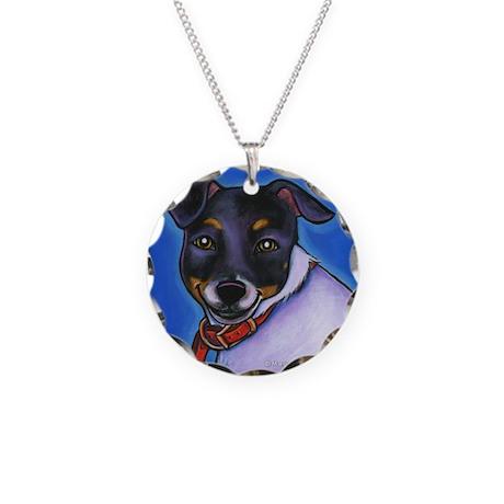 "Rat Terrier ""Macy"" Necklace Circle Charm"