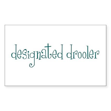 Designated Drooler Rectangle Sticker