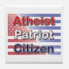 Atheist, Patriot, Citizen Tile Coaster