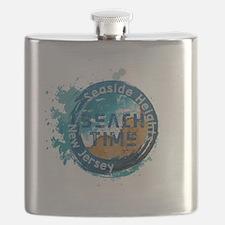 Funny Seaside heights Flask
