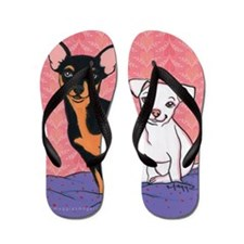 Chihuahua Love Flip Flops