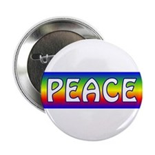 "Rainbow Peace 2.25"" Button (10 pack)"