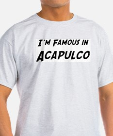Famous in Acapulco Ash Grey T-Shirt