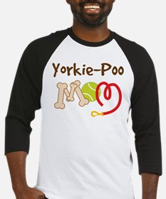Yorkie-Poo Dog Mom Baseball Jersey