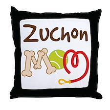 Zuchon Dog Mom Throw Pillow