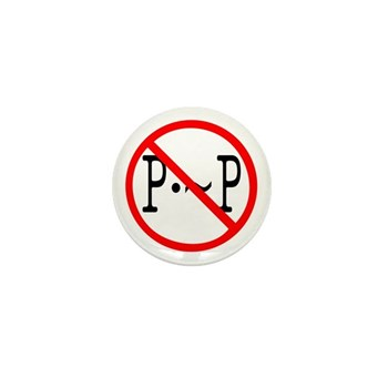 P not P Mini Button (10 pack)