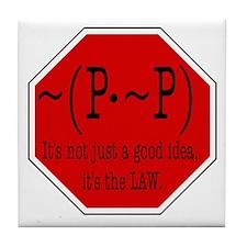 P not P Tile Coaster