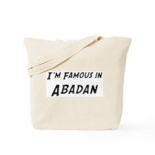 Famous in Abadan Tote Bag