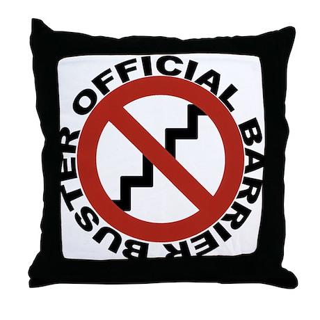 OFFICIAL BARRIER BUSTER Throw Pillow