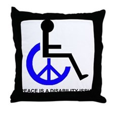 DISABILITY PEACE Throw Pillow