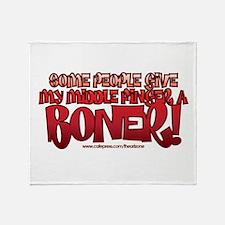 middle finger boner trans.png Throw Blanket