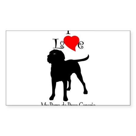 Perro de Presa Canario Rectangle Sticker