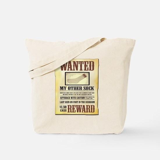 Wanted Sock Tote Bag