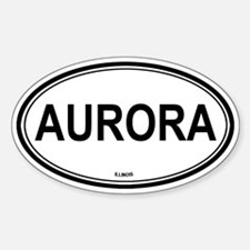 Aurora (Illinois) Oval Decal