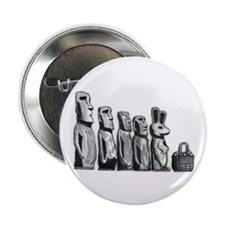 "Easter Island 2.25"" Button"