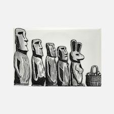 Easter Island Rectangle Magnet