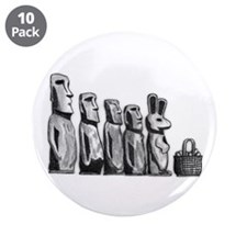"Easter Island 3.5"" Button (10 pack)"