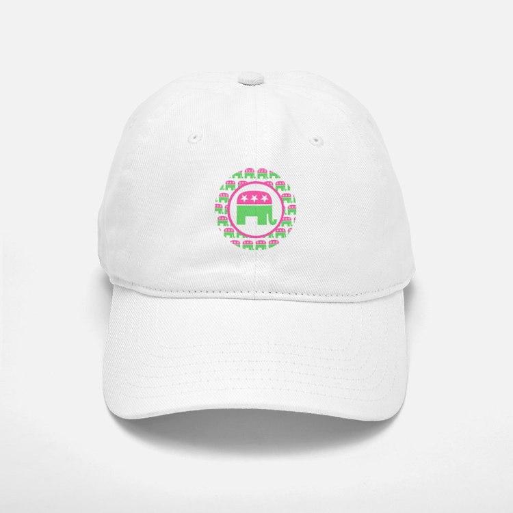 Preppy Republican Baseball Baseball Cap