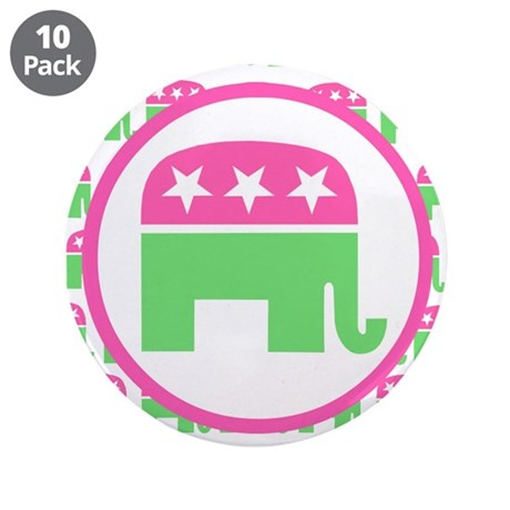 "Preppy Republican 3.5"" Button (10 pack)"