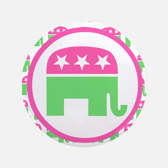 """Preppy Republican 3.5"""" Button"""