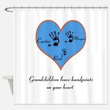 Personalized handprints Shower Curtain