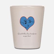 Personalized handprints Shot Glass